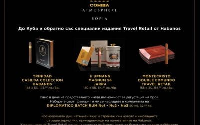 Travel Retail editions from Habanos with Rum Diplomatico pairing